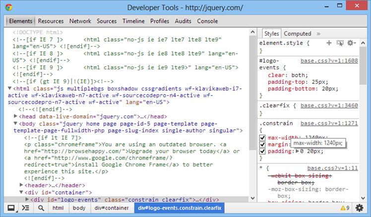 Using Google Chrome's Developer Tools – Part 1   Joshua Rarama